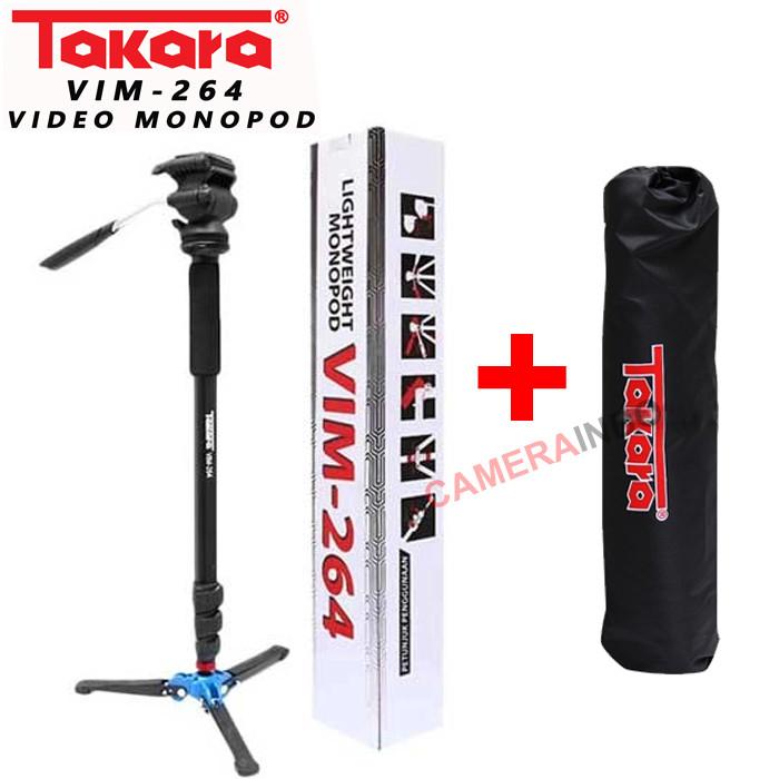 Foto Produk Video Monopod Takara VIM 264 Fluid Head + Bag Monopod Video dari cameraindo
