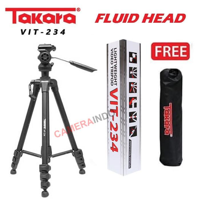 Foto Produk Tripod Takara VIT 234 Fluid Head + Bag Video Tripod dari cameraindo