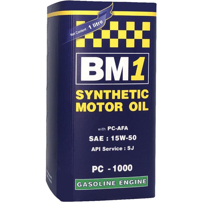 Foto Produk OLI MOBIL GASOLINE BM1 PC 1000 15W-50 SJ (1L) dari BM1 Oil Indonesia