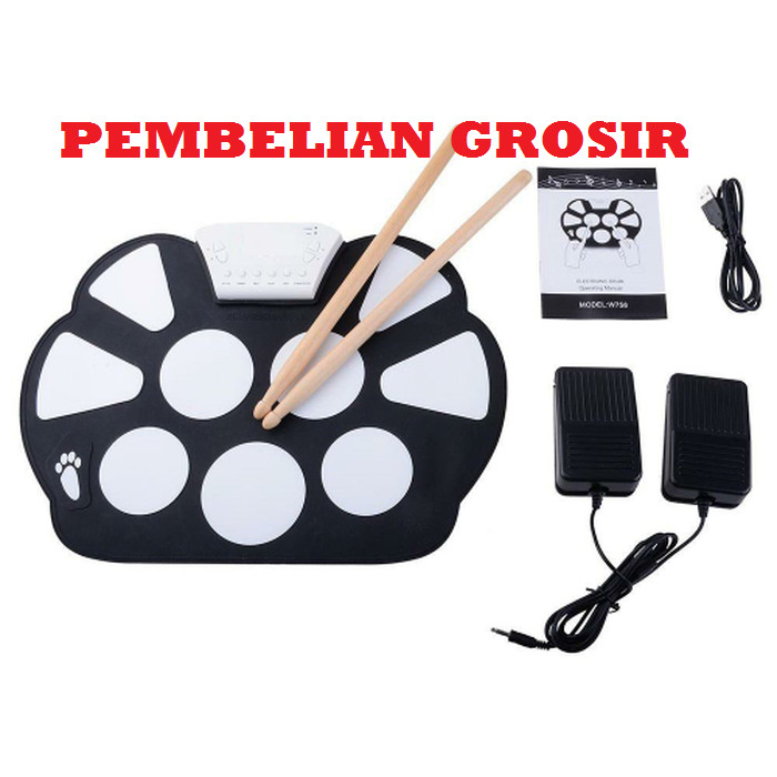 harga Roll up drum kit portable 9 pad portable roll up drum pad set Tokopedia.com