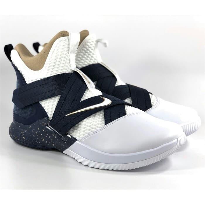 new arrival 8555f 13fef Jual Nike Lebron James 12 Soldier SFG Navy Blue White Perfect Kick Original  - DKI Jakarta - Vicstoryshop   Tokopedia