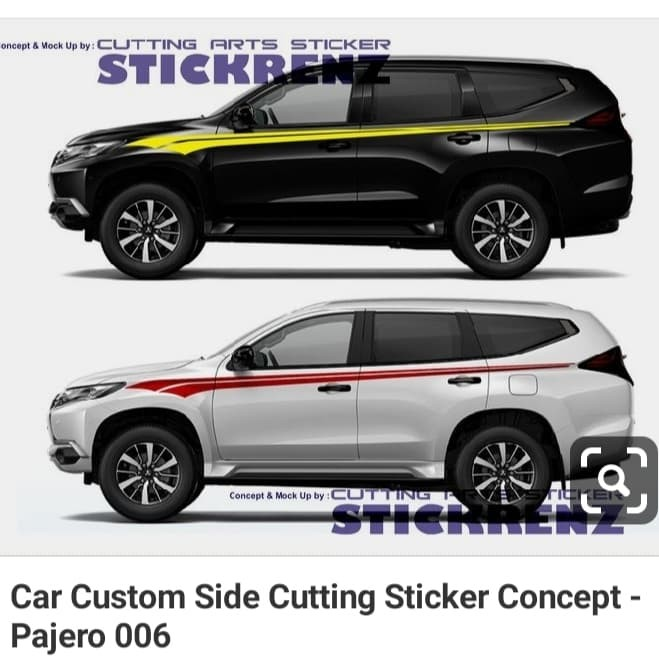Jual Cutting Sticker Mobil Racing Pajero Fortuner Mux Suv