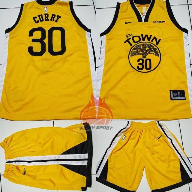 low priced 9f51c 94601 Jual Jersey Celana Basket NBA GSW Town Kuning