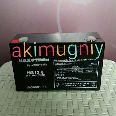 harga Aki accu baterai kering vrla mf 6v 12ah mainan ups gs yuasa Tokopedia.com