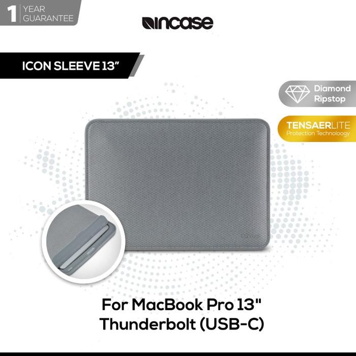 harga Incase icon sleeve diamond ripstop for macbook pro 13inch thunderbolt3 - perak Tokopedia.com