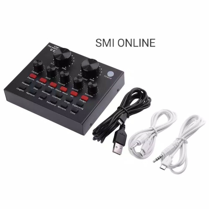 harga Usb audio soundcard mixer v8 external live broadcast microphon headset Tokopedia.com