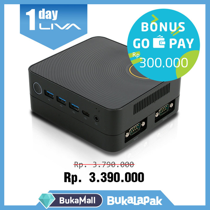 harga Promo cashback 2 - mini pc liva ze - 4gb - 240gb - bisa windows 7(64) Tokopedia.com