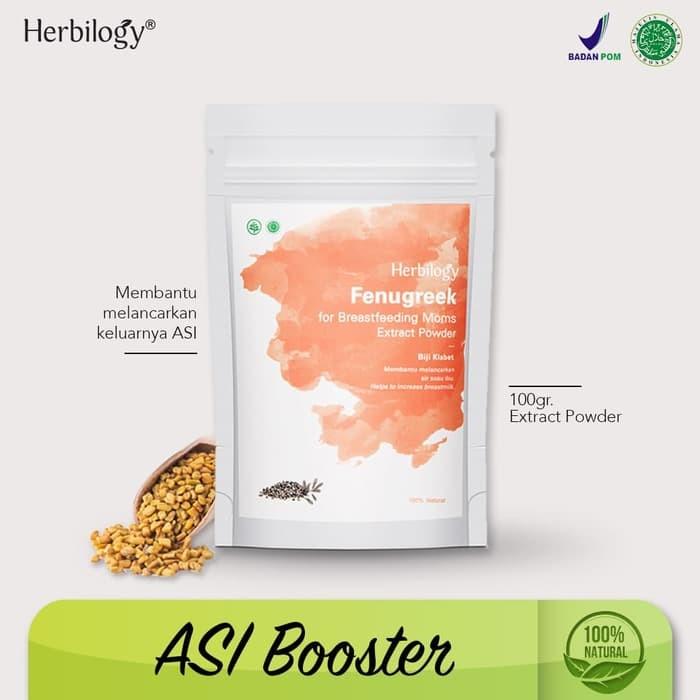 Foto Produk Asi Booster Herbilogy Fenugreek (Biji Klabet) Extract Powder 100g dari SAYAM SIDI ol's shop