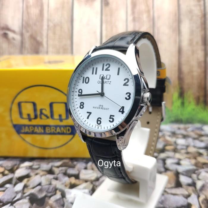 harga Q&q qnq qq analog jam tangan kulit unisex hitam c192j304y original Tokopedia.com