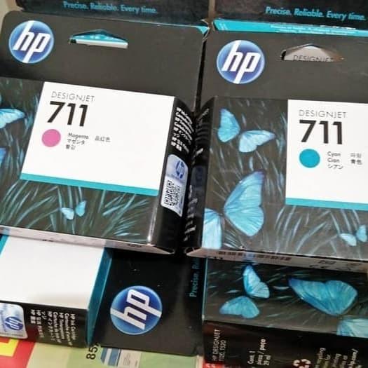 harga Tinta hp 711 untuk plotter t120 1 set bcmy Tokopedia.com