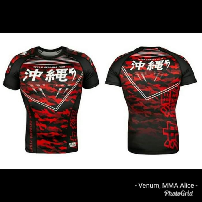 Venum Okinawa 2.0 Short Sleeve Rash Guard Black//White
