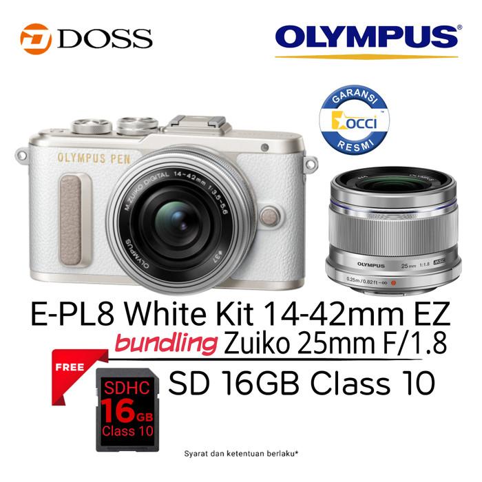 harga Olympus e-pl8 kit 14-42mm ez + 25mm f1.8 Tokopedia.com