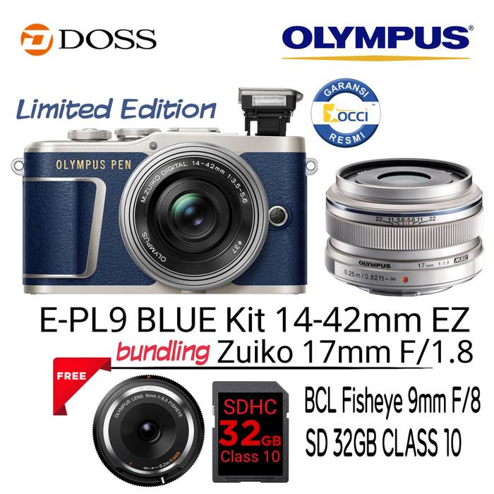 harga Olympus e-pl9 blue kit 14-42mm ez + 17mm f1.8 Tokopedia.com