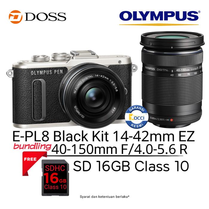 harga Olympus e-pl8 kit 14-42mm ez + 40-150mm f4-5.6 Tokopedia.com