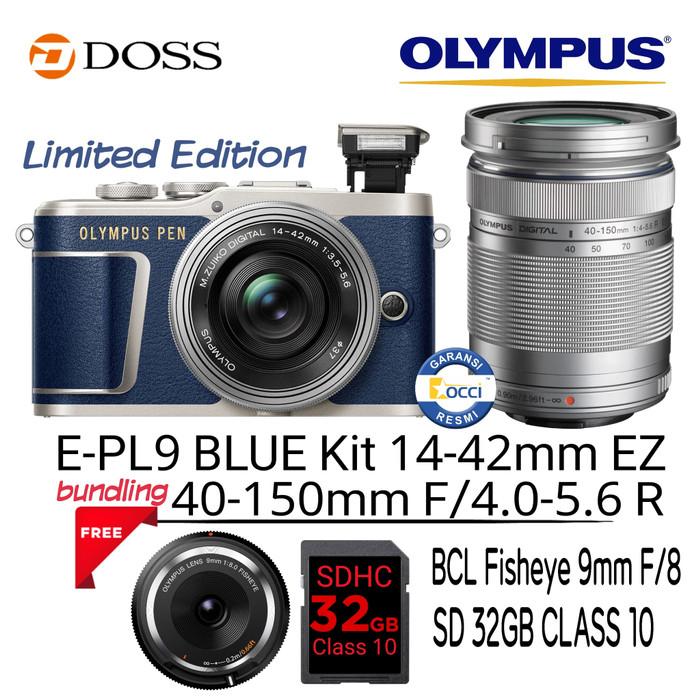 harga Olympus e-pl9 blue kit 14-42mm ez + 40-150mm f4-5.6 Tokopedia.com
