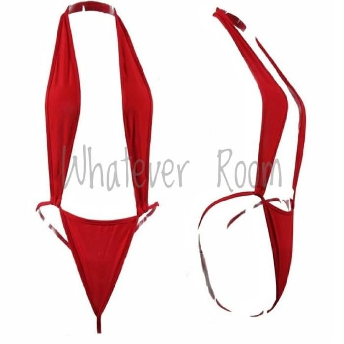 Foto Produk Ghina - Sexy Lingerie Red Bodysuit Playsuit Sleepwear Costume dari Whatever Room