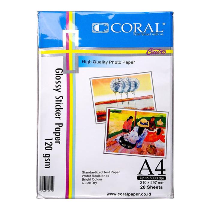 Jual Coral Glossy Sticker Paper 120 gsm / Kertas Stiker Photo - Kota  Bandung - CENTRO TRADING   Tokopedia