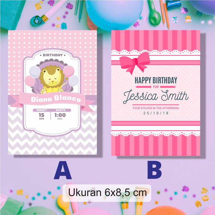 Jual Undangan Kartu Ucapan Ulang Tahun Anak Aqiqoh Tasyakuran Birthday Kab Banyumas Kreatif Digital Printing Tokopedia