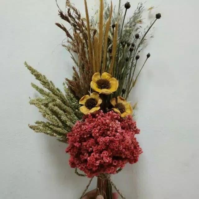 Jual Buket Bunga Kering Bunga Mawar Rustic Flower Bunga Edelweis Kota Bandung Tokoku Fashion Tokopedia