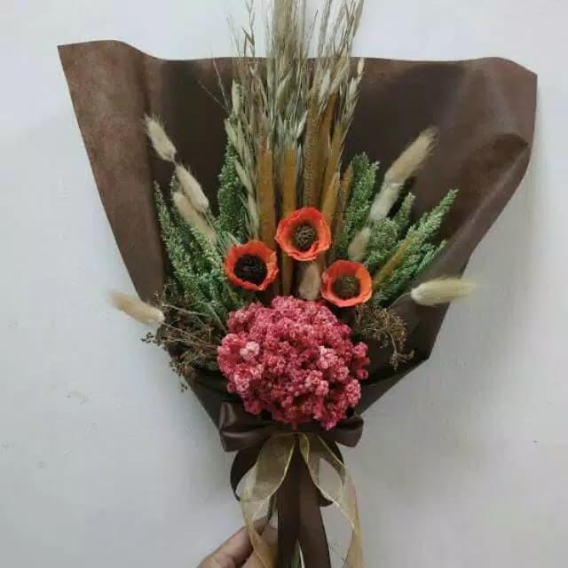Jual Buket Bunga Kering Bunga Wisuda Bunga Edelweis Bunga Mawar 1 Kota Bandung Tokoku Fashion Tokopedia