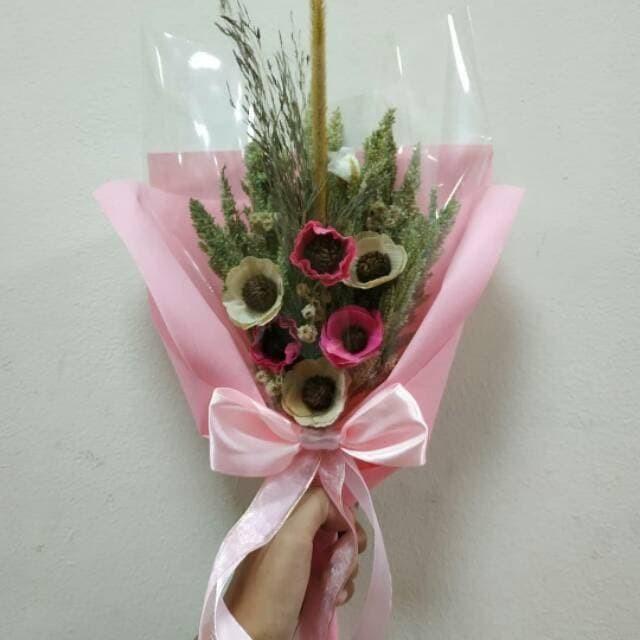 Jual Buket Bunga Kering Bunga Wisuda Bunga Edelweis Rustic Flower 1 Kota Bandung Tokoku Fashion Tokopedia