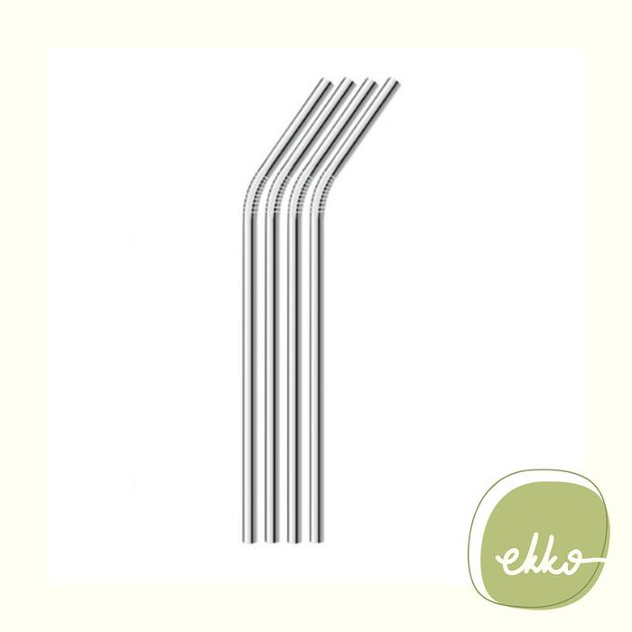 Jual Stainless Straw (BENT) / Sedotan Stainless / Eco Friendly Zero Waste -  DKI Jakarta - Ekko Store   Tokopedia