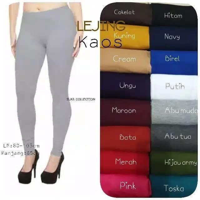 Jual Celana Legging Jumbo Bahan Spandek Rayon Kaos Kota Depok Athaya Accessories Tokopedia