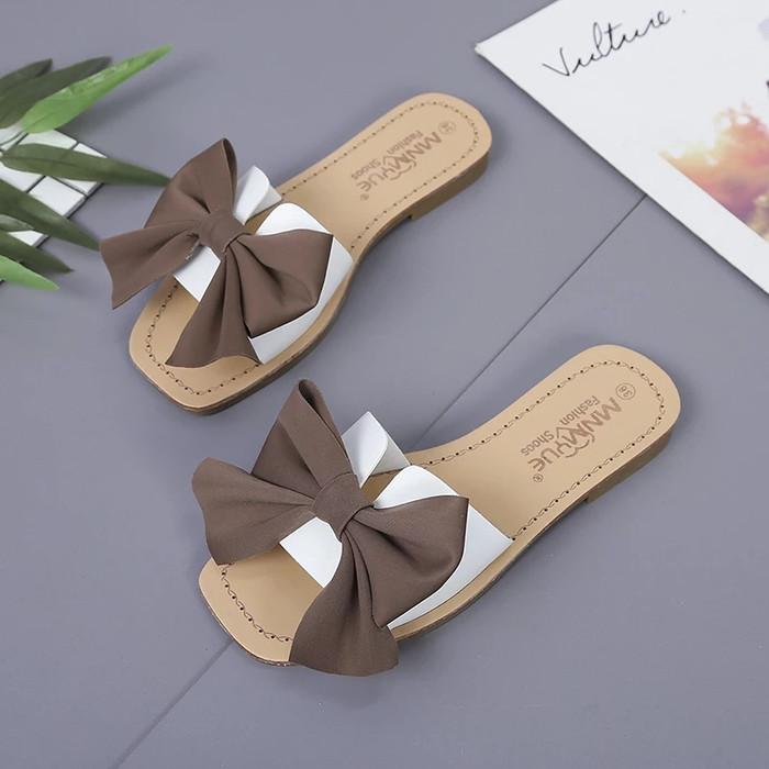Foto Produk sandal teplek pita besar - Putih, 36 dari efraim shoes