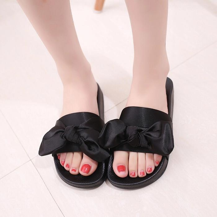 Foto Produk sandal teplek pita kain - Merah Muda, 36 dari efraim shoes