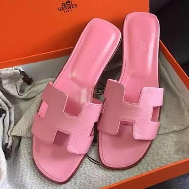 Foto Produk sandal teplek ermes polos - Merah Muda, 36 dari efraim shoes