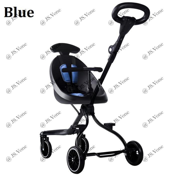 Foto Produk Magic Stroller Micro Trike / Kereta Dorong Sepeda Anak Cabin Size v1 - Biru dari jsvone