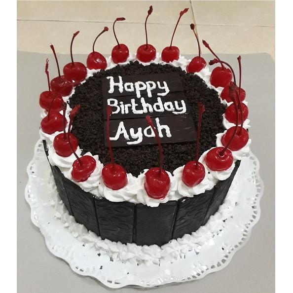 Jual Kue Ulang Tahun Black Forest Bulat Diameter 18cm Kota Depok Arum Cake Tokopedia