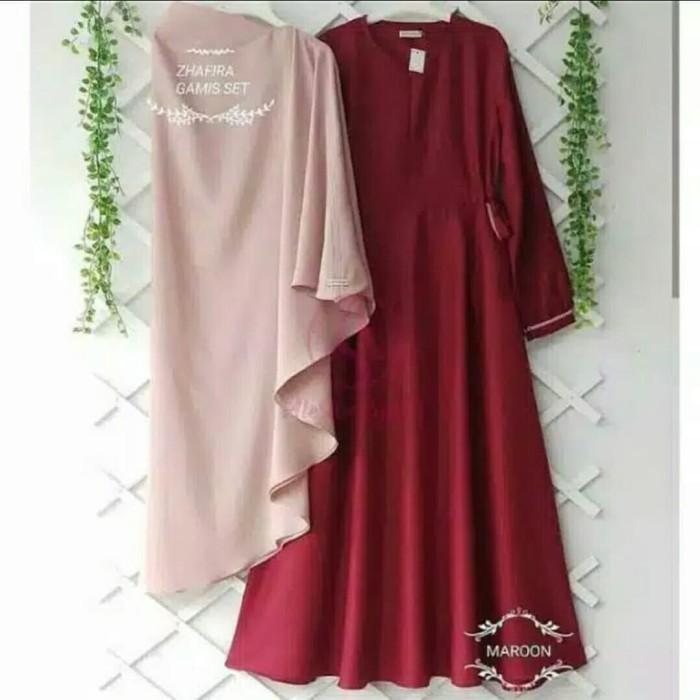 Foto Produk Pakaian Baju Busana Muslim Wanita Satu Set Gamis Syari ZHAFIRA Termura dari Zy's Distro