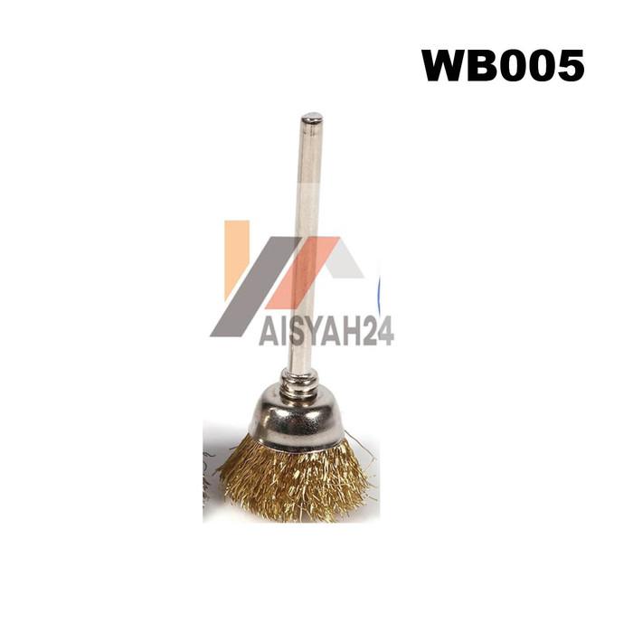 Foto Produk Steel Wire Cup Brush I Sikat Kawat Baja Cangkir 3mm buat Mini Grinder - Gold dari Toko Aisyah24