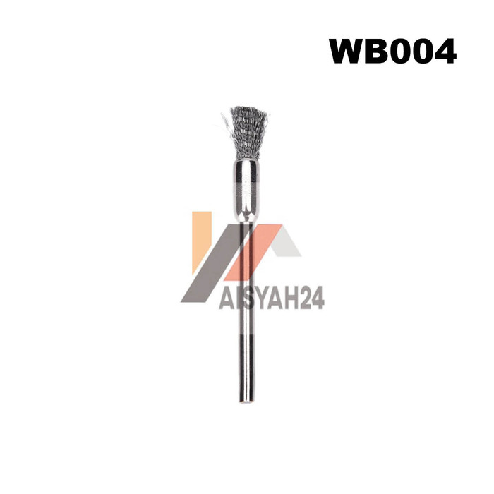 Foto Produk Steel Wire Pencil BrushI Sikat Kawat Baja Pensil 3mm buat Mini Grinder - Gold dari Toko Aisyah24