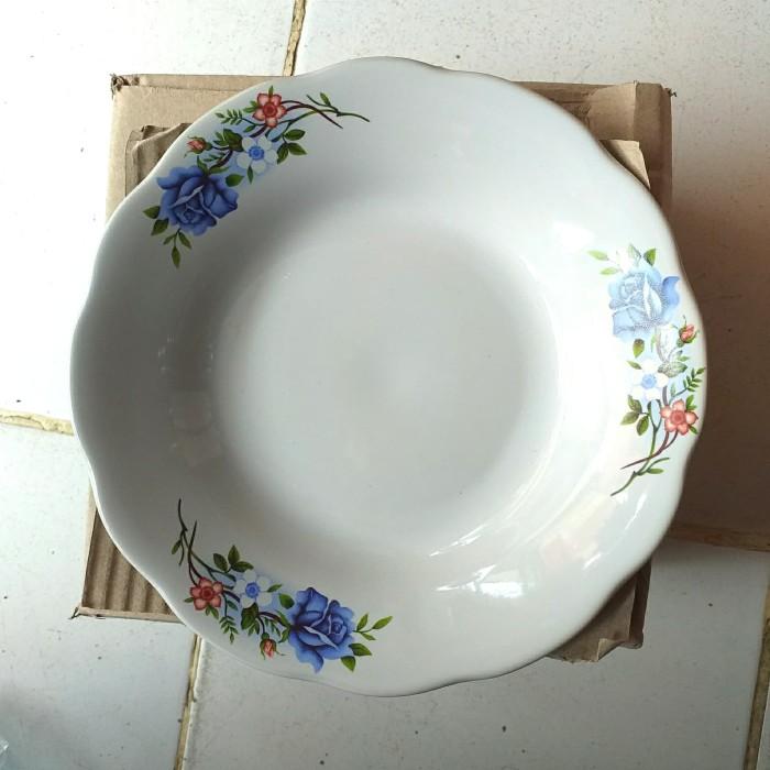 Foto Produk piring makan keramik / piring kembang / piring keramik / piring murah dari mainan tampo