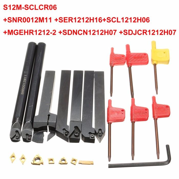 16mm 7pcs//set indexable carbide turnnig tools lathe lathe cutting tools set