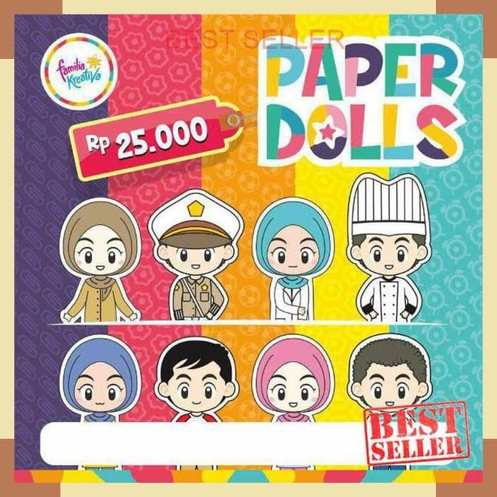 Jual Edufuntoys Papper Doll Family Mainan Orang Orangan Kertas