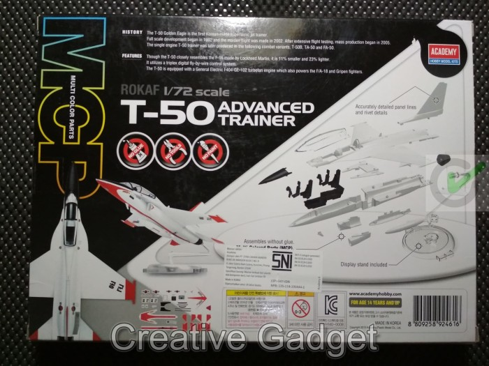 Jual Mokit Academy 1/72 - ROKAF T-50 Golden Eagle T50 Advanced Trainer MCP  - Kota Surabaya - Creative Gadget | Tokopedia