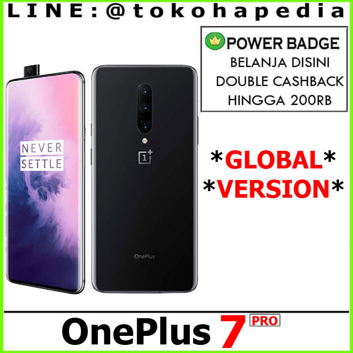 harga Oneplus 7 pro 8gb / 256gb - new global version one plus Tokopedia.com