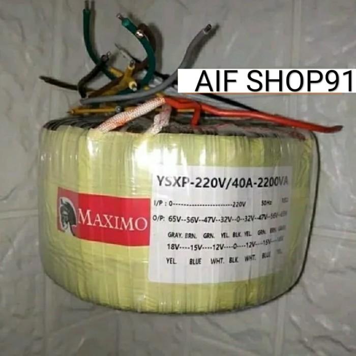 harga Travo trafo toroid donat maximo 2200va 40a ct-56v Tokopedia.com