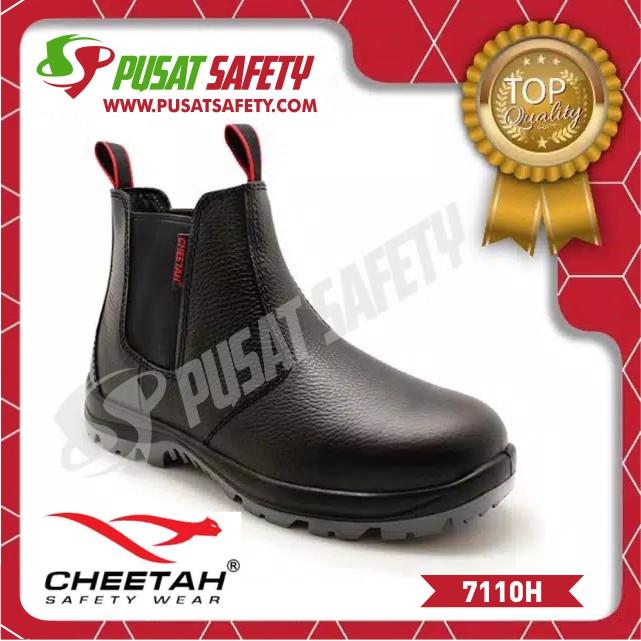 Foto Produk Sepatu Kerja Safety Cheetah 7110H - Hitam, 6 dari Pusat Safety Online
