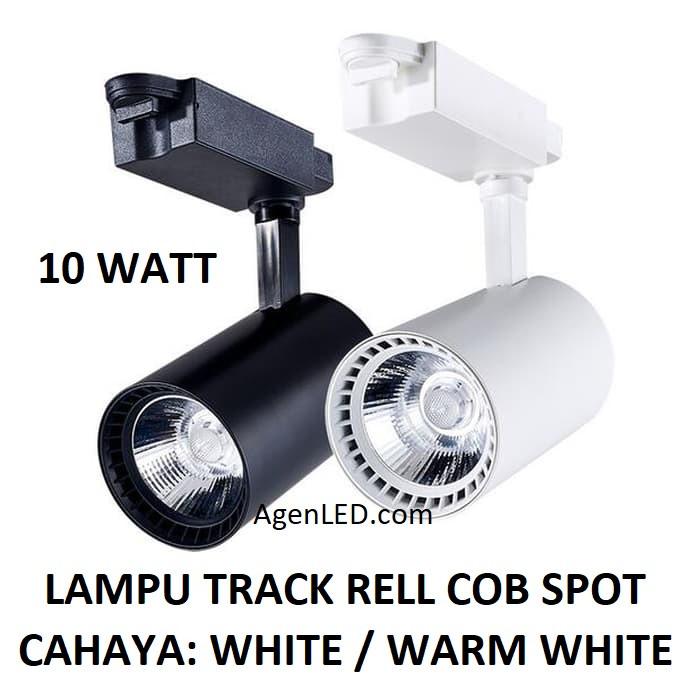 Foto Produk Lampu Track Rell 10W COB Spot Sorot 10 w watt rel trek LED hitam putih dari AgenLED