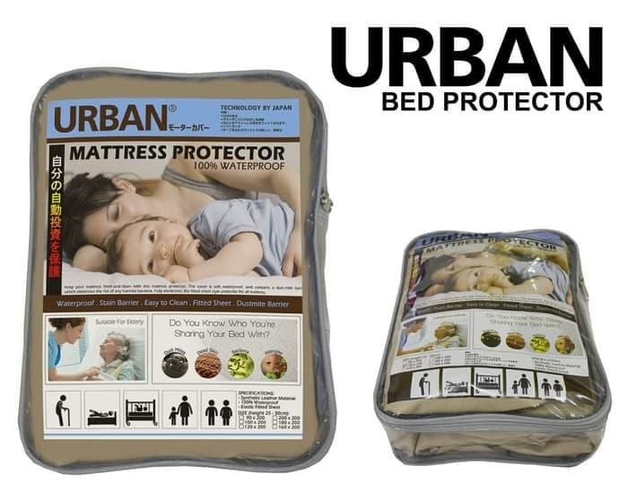 Foto Produk Bed Cover Protector Urban Seprei Waterproof King Size 180x200 Velve dari GROSIR SBY LENGKAP