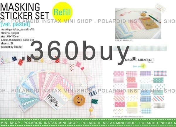 Jual Promosi Instax Mini Polaroid Masking Sticker Pastel Color Jakarta Pusat Bintangmall3 Tokopedia