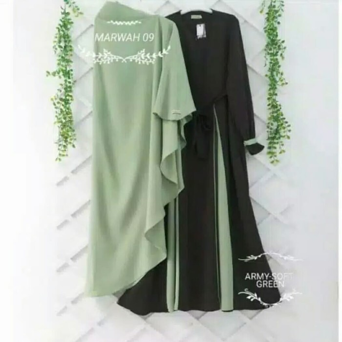 Foto Produk Pakaian Baju Busana Muslim Wanita MARWAH Gamis Syari Satu Set Termurah dari Zy's Distro