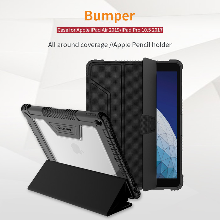 "Foto Produk Nillkin Bumper Magnetic Leather Flip Case iPad Air 3(2019)/ Pro 10.5"" - Hitam dari unomax"