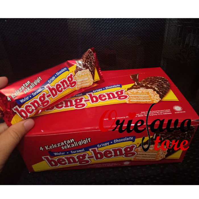 harga Beng beng wafer cokelat 1 box isi 20 pcs Tokopedia.com