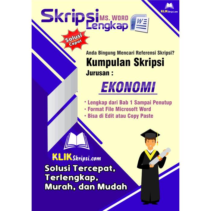 Jual Skripsi Ekonomi Plus Link Download Kab Purworejo E Media Tokopedia