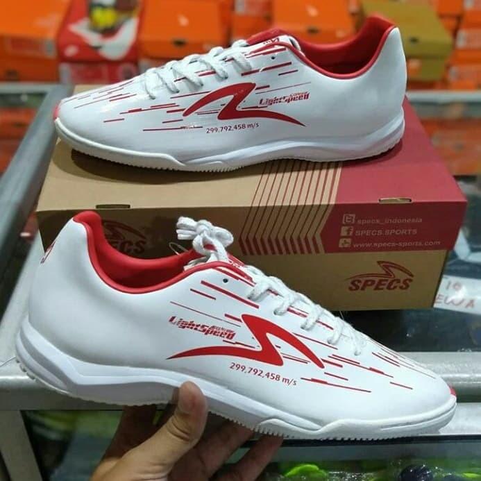 Jual Sepatu Futsal Specs Acc Lightspeed In Reborn White Original